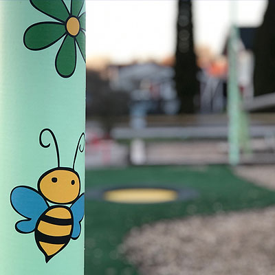 Playground Flowers for bees, Köping, Sweden